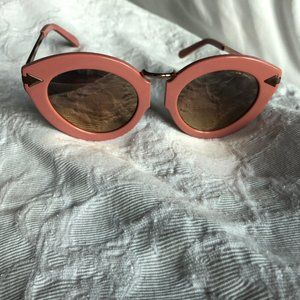 Karen Walker Pink and Rose Gold reflective Sunnies